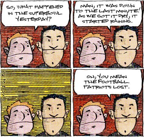 comic about skateboarding vs. football
