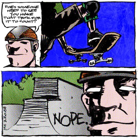 comic about skateboarding self actualization