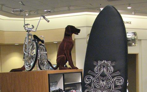 Mall skateboard displays