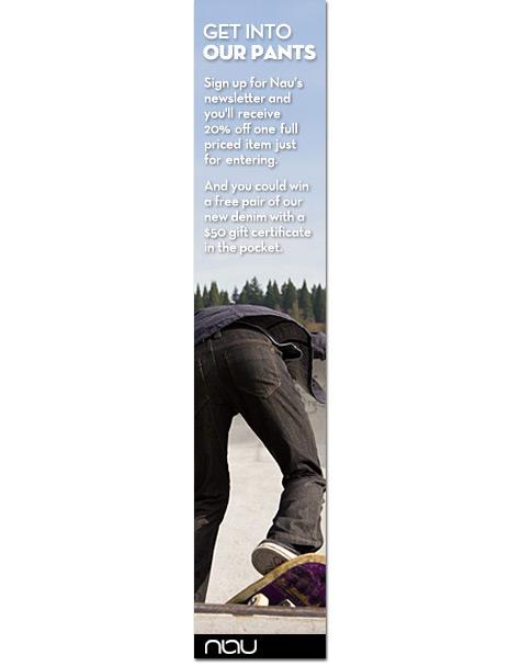 Nau clothing banner ad