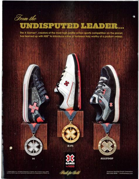 X Games Shoes advert