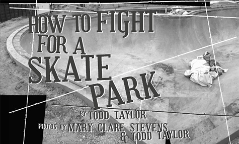 How to fight for a skatepark