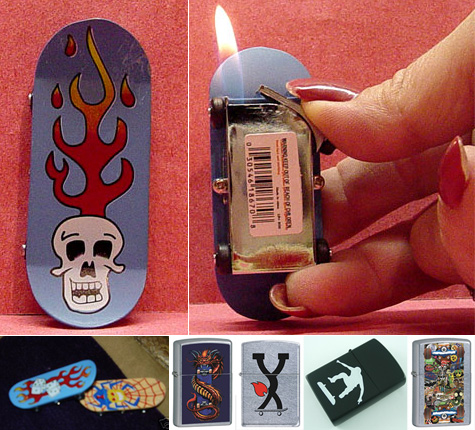 Skateboard lighters