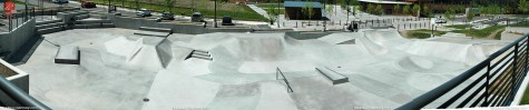 Sammamish, Washington skatepark panorama
