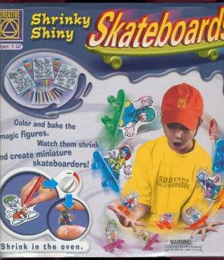 Shrinky Dink Skateboard detail