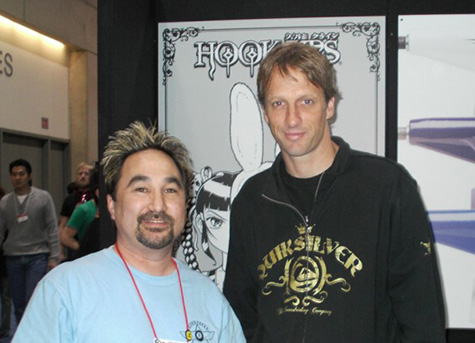 Tom Fain and Tony Hawk