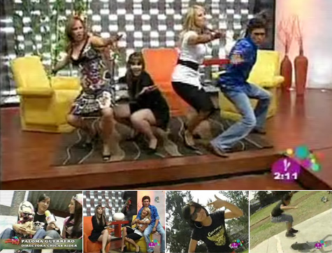 Chicas Riders on Mexican TV