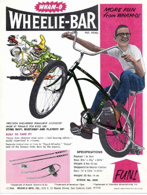 The Wham-O Wheelie Bar