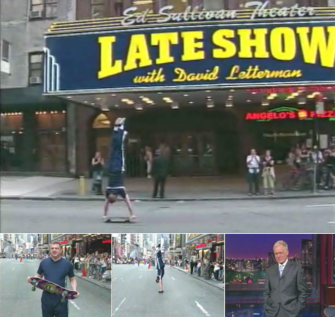 Handstand Man on Late Show with David Letterman