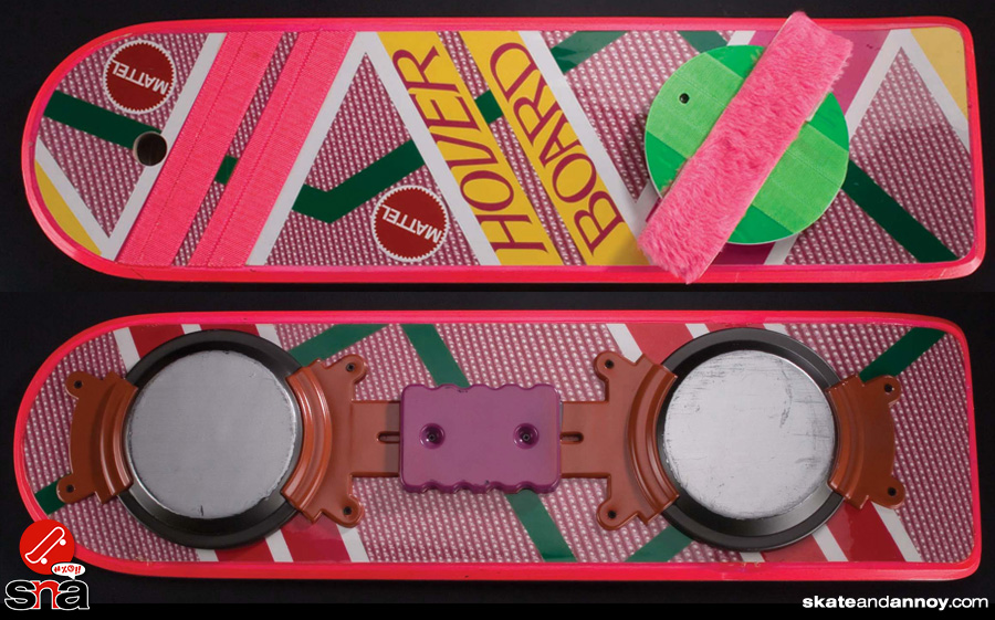 back to the future hoverboard skateboard deck
