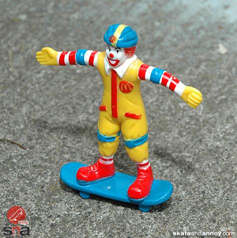 Ronald McDonald on a skateboard 3