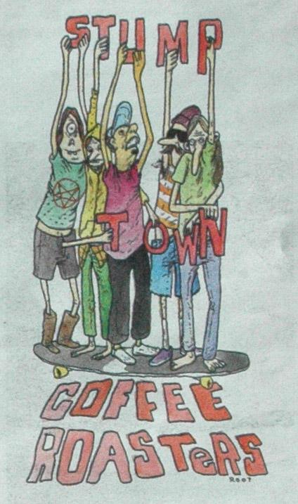 Stumptown Coffee advert with skateboard