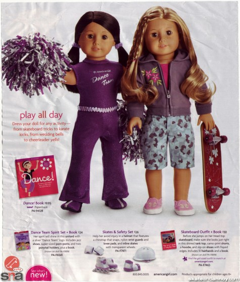 American Girl doll Skateboard outfit with book