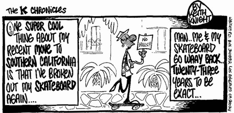 Skateboarding comic