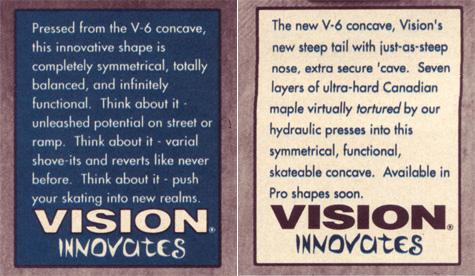 Vision Skateboards V6 concave -2