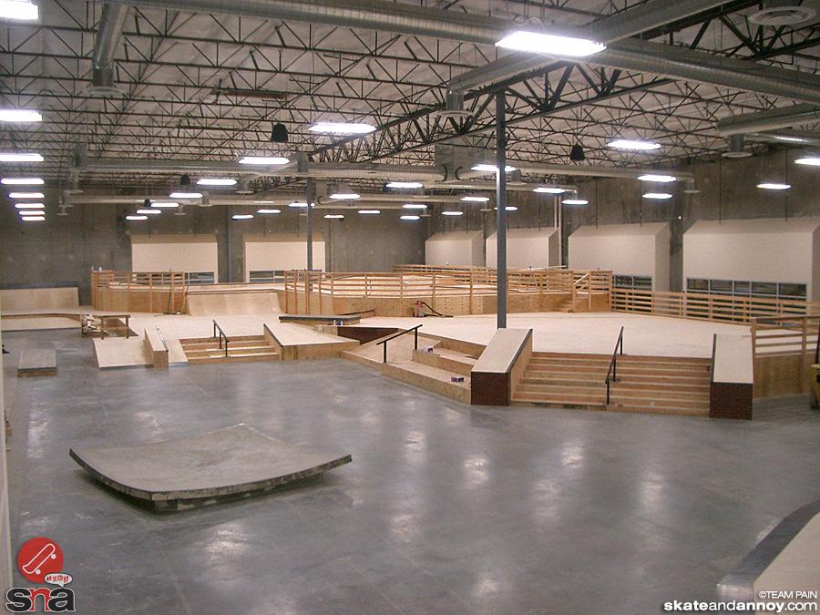 Epic Wooden Skatepark Yes
