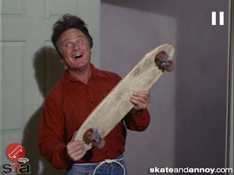 1967: skateboarding on TV Green Acres episode--02
