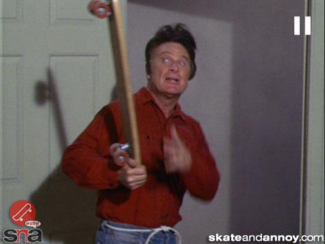 1967: skateboarding on TV Green Acres episode-03