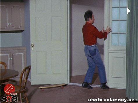 1967: skateboarding on TV Green Acres episode-04