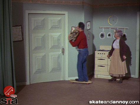 1967: skateboarding on TV Green Acres episode-06