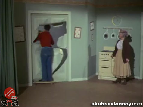 1967: skateboarding on TV Green Acres episode-07