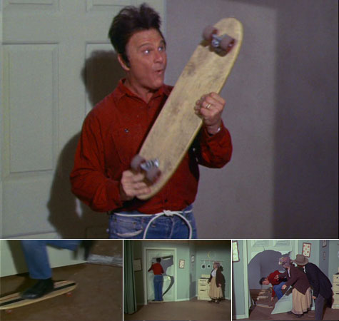 Skateboarding on Green Acres