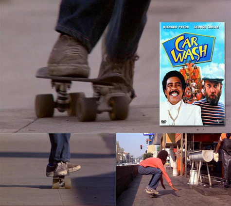 Skateboarding in the 1976 movie Car Wash