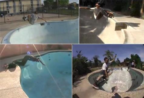 random pool skating videos