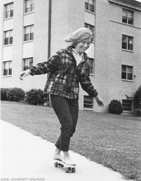 Skateboarding on Duke University campus