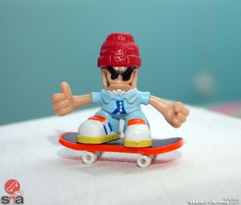 steve zissou on a skateboard