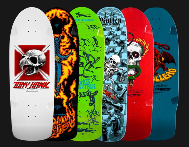 Powell Peralta Bones vato rat skateboard bearings wheels Hawk