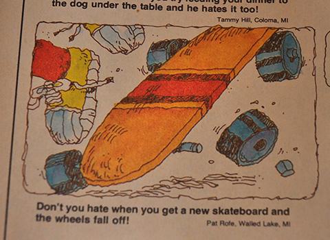 Dynamite Magazine 3D Skateboard poster.
