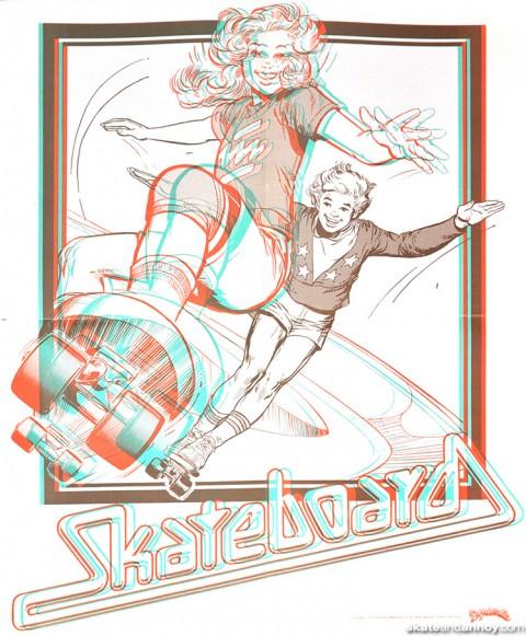 Dynamite Magazine 3D Skateboard poster