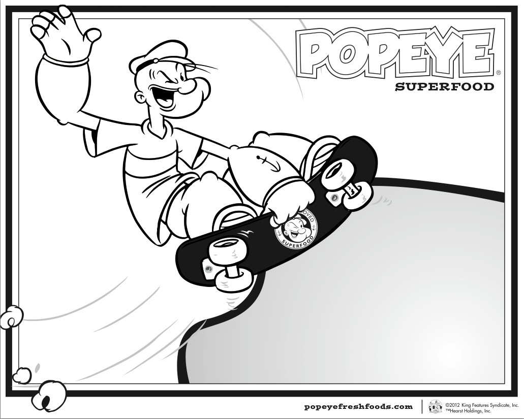 Spinach Popeye Coloring Pages Pictures to Pin on Pinterest  PinsDaddy