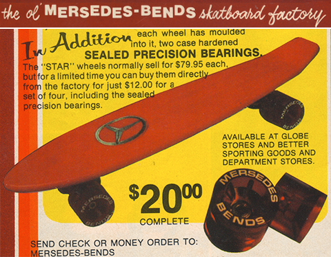 Mersedes Bends skateboard