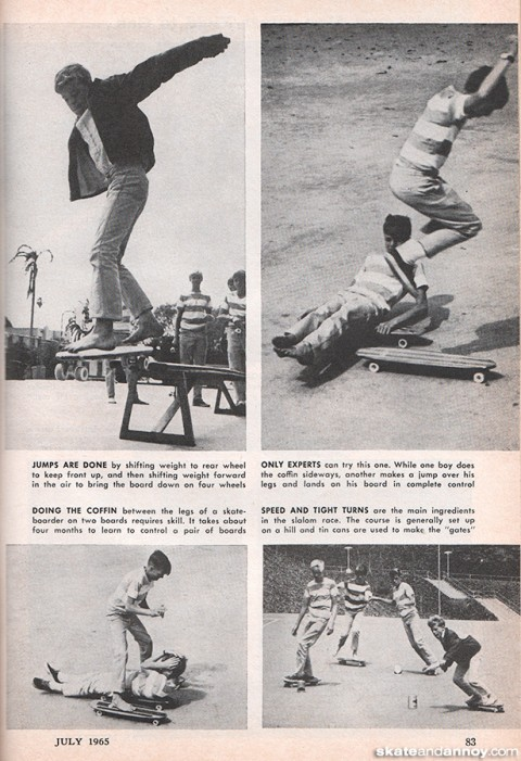 Skateboarding in popular mechanics 1965
