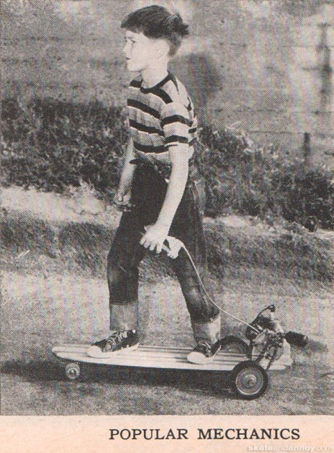 Popular Mechanics 1965 - motorized skateboard