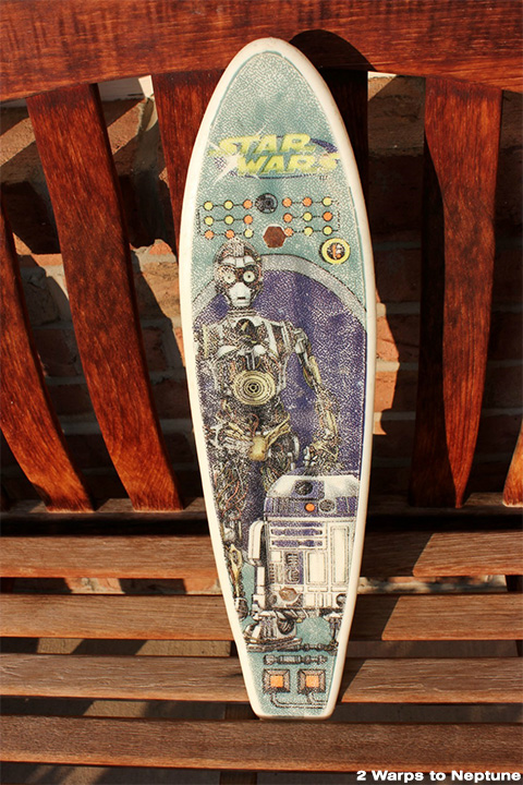 Plastic Star Wars skateboard