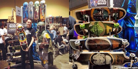 Sant Cruz Star Wars skateboards
