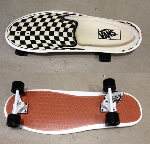 Vans Shoe shaped skateboard
