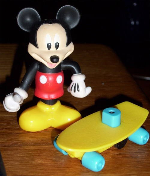 Mickey mouse on a skateboard