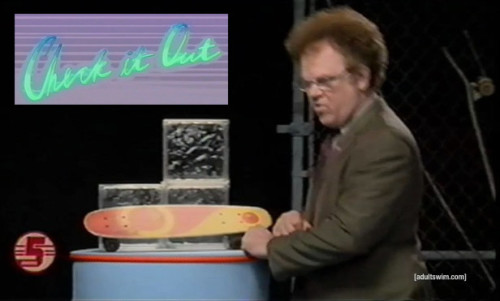 skateboards with Dr Steve Brule