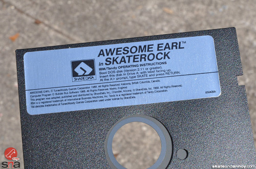 "Awesome Earl in SkateRock by Share Data 5.25"" floppy disk"