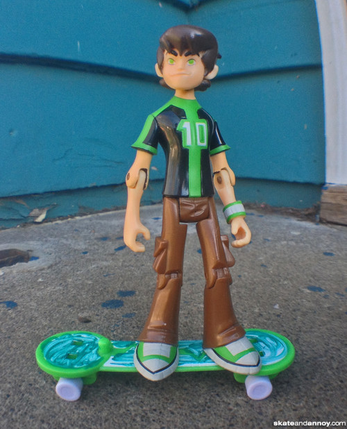 Ben 10 with hoverboard skateboard