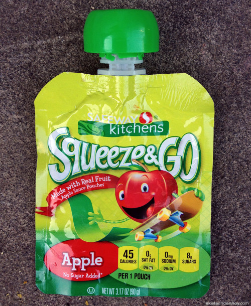 Safeway Squeeze & Go Applesauce skateboard