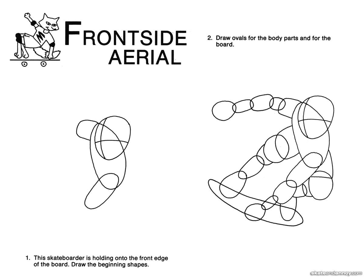Fun To Draw Skateboard Action Parts Diagram 16