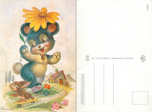 rabbit-postcard